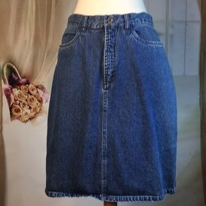 L.L. Bean Denim Skirt